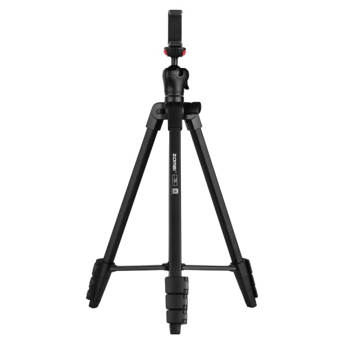 ZOMEI T50 Portable Tripod Aluminum Alloy Selfie Travel Phone Tripod Max. Height 134cm/52.8in Max. Load Capacity 3kg
