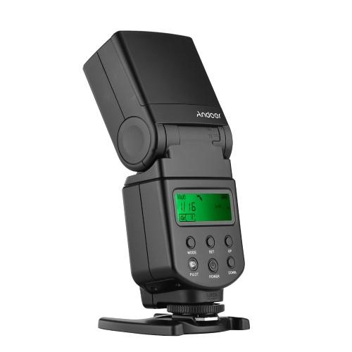 Andoer Universal Flash Speedlite GN40 Einstellbare LED-Fülllicht Blitz auf der Kamera mit Halterung