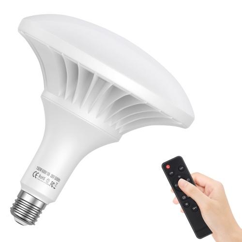 Andoer 150W LED Glühbirne Fotografie Lampe 3000K-6500K Dimmbare energiesparende E27-Halterung mit Fernbedienung für das Fotostudio Home Warehouse Office Hotel