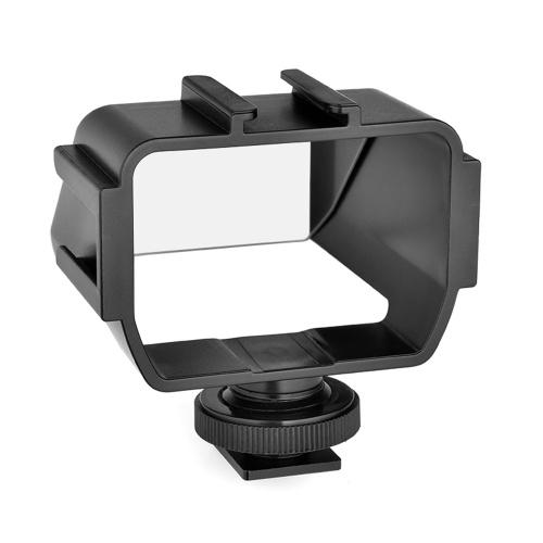 Andoer Universalkamera Selfie Vlog Klappspiegel mit 3 Kaltschuhhalterungen