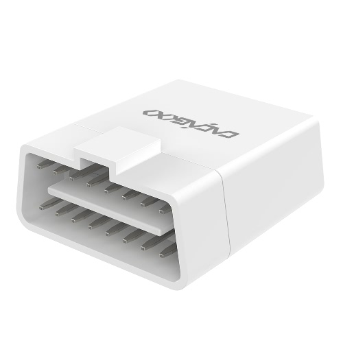 Adaptador Herramienta CACAGOO Wireless 4.0 del explorador de código del coche del OBD II lector de diagnóstico de escaneo con HUD de visualización que proporcionan capacidad Bluetooth iOS / Android Phones comprimidos de color blanco