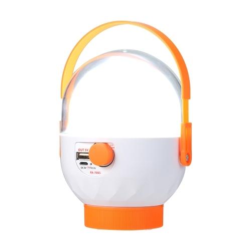 FA-7001 Bombilla LED Linterna para acampar Lámpara de emergencia brillante para interiores y exteriores con pilas