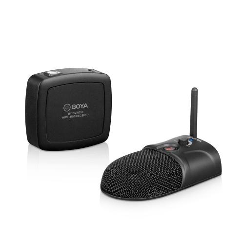 Беспроводной микрофон для конференц-связи BOYA, всенаправленная система 2,4 ГГц, захват 360 °