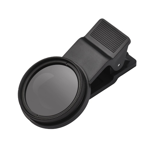 Andoer 37MM Professional Smartphone CPL Filter Set  Clip-on Circular Polarizer Lens with Universal Phone Clip Lens Protector for Smartphone Photography D10537