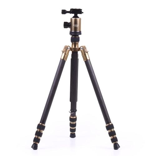 キヤノンソニーニコンパナソニック、オリンパスのデジタル一眼レフカメラビデオカメラ用のキャリングバッグ付きAndoer軽量コンパクトカーボンファイバー三脚パノラマBallhead 36mmの最大高さ66インチの負荷容量の10KGマックスチューブ直径25ミリメートル