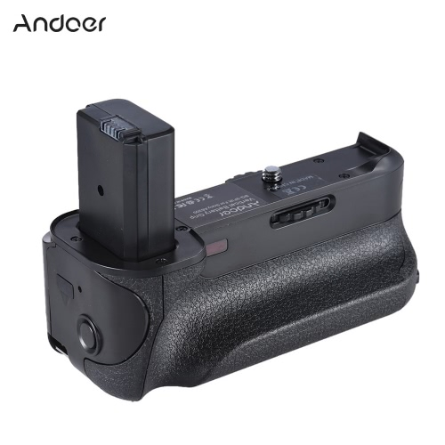 Andoer BG-3FIR Vertical Battery Grip IR Infrared Remote Control with Micro USB Charging Port Compatible with 2 * NP-FW50 Battery for Sony A6300 ILDC Mirroless Camera