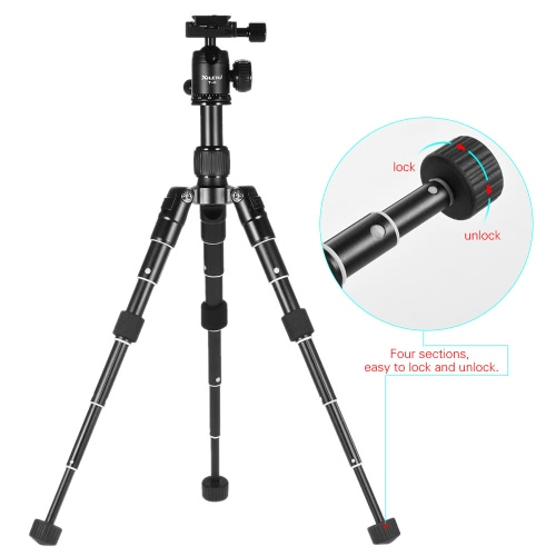XILETU Ultra Compact Desktop Mini Tripod Kit with Ball Head for Canon Nikon DSLR Camera