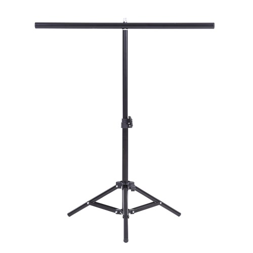 60.5 * 70cm Small Photography Studio Video Metal Support Stand System Kit Set w/ Crossbar & 3 * Clamps for PVC Backdrop Background