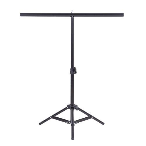 60.5 * 70センチメートル小さな写真スタジオビデオメタルサポート/クロスバー&3 Wシステムキットスタンドセット* PVCの背景の背景用のクランプ