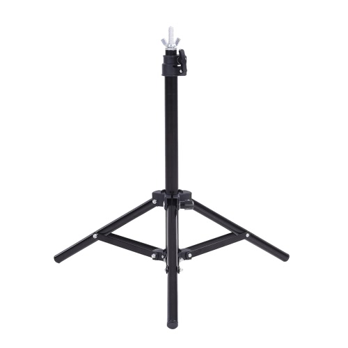 60,5 * 70cm Kleine Fotografie Studio-Video-Metall-Support-Systemstand Kit Set w / Crossbar & 3 * für PVC-Hintergrund-Hintergrund Schellen