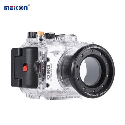 MEIKON SY-15 40m / 130 ft Wodoodporna obudowa podwodna Transparent Case Wodoodporna kamera Sony RX100 III