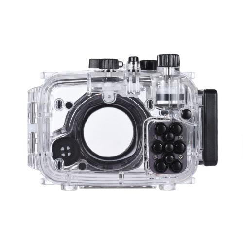 MEIKON SY-15 40m / 130ft Underwater Waterproof Camera Housing Transparent Waterproof Camera Case for Sony RX100 III