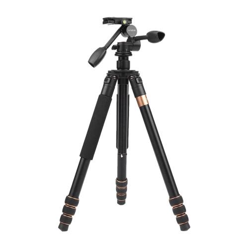 "Andoer TP-630 180cm / 70.9 ""マグナリウム三脚デュアルハンドル三方写真ヘッドCanon Nikon Sony DSLRカメラ用最大荷重20kg"