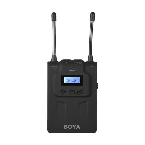 BOYA BY-WM8 Pro Clip-on UHF doppio canale Mic senza fili del microfono Audio System Video Recorder 2 Trasmettitore 1 Ricevitore per Canon Nikon Sony DSLR Videocamera