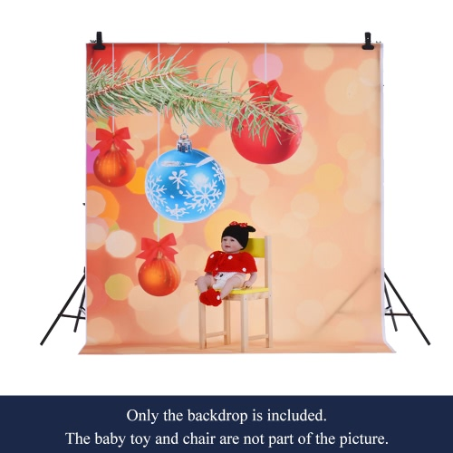 Image of 1.5 * 2m Photography Backdrop Computer Printed Christmas Bell Spot Pattern