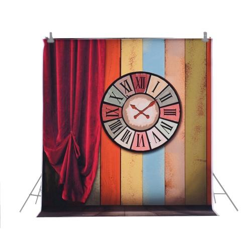 1,5 * 2m / 4,9 * Tło 6.5ft Fotografia tle Computer Printed Roman Clock kolorowy wzór dla dzieci Kid Dziecko Noworodek Pet zdjęcie portret studio fotografowania