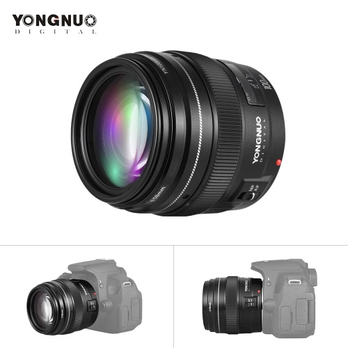 YONGNUO YN100mm F2 Medium Telephoto Prime Lens 100mm Fixed Focal Length Aperture F/2~F/22 for Canon EOS Rebel Camera Support AF MF Mode