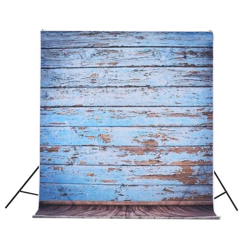 1.5 * 3 m / 4.9 * 9.8ft Wideo Studio Tło Backdrop Cyfrowy drukowane Niebieski Klasyczny Klocki Drewniany Podłoga Wzór dla nastolatek Dorosły Dziecko Dzieci Portret Fotografii