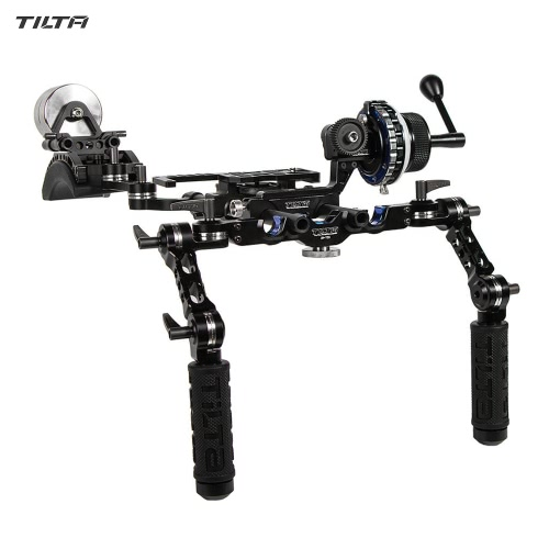 TILTA TT-03-TL DSLR Follow Focus System Offset Shoulder Rig w/ Counter Weight for DSLRs Mirrorless Cameras Video Camcorders