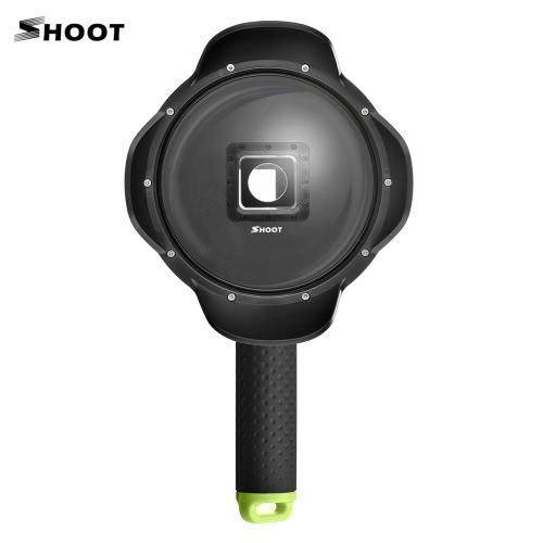 """SHOOT 6 """"Sportkamera Tauchen Fisheye Dome Port Wasserdichtes Gehäuse für XiaoYi 2 4K Action Kameras Unterwasserfotografie mit Objektivdeckel Floaty Grip"""