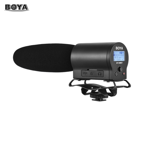 BOYA BY-DMR7 Broadcast Quality Condenser Microphone with Integrated Flash Recorder for Canon Nikon Sony DSLR Cameras and Video Cameras