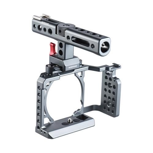 Video Camera Cage Rig with Top Handle Stabilizer Film Movie Making System