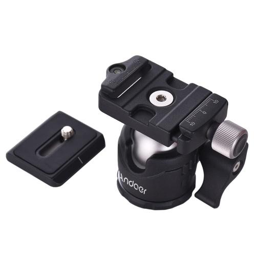 Andoer Mini Tabletop Bola Cabeça Tripé 360 Graus Tripé de Vídeo de Montagem com Placa de Liberação Rápida e Nível de Bolha para Canon Nikon Sony câmera DSLR para iPhone X 8 7 6 S plus para Samsung Galaxy para GoPro Hero 6/5/4/3 +