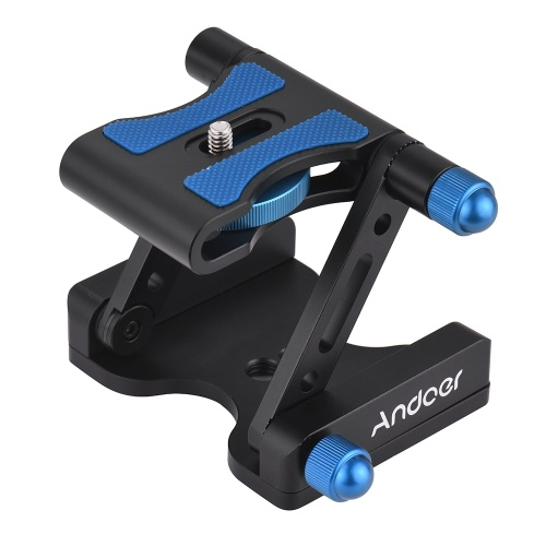 Andoer Z-7 Aluminum Alloy Tilt Head Z-shaped Foldable Quick Release Plate Tilt Tripod Head for Canon Nikon Sony DSLR ILDC Camera Max. Load Capacity 2.5kg