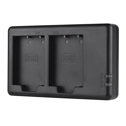 FB Dual USB Charger для NP-W126 Аккумулятор для Fujifilm FinePix HS50EXR X-T20 X-T10 X100F X-H1 X-A5 X-A3 X-A1 X-E1 X-E2 X-M1 X-Pro2 X-Pro1 Камера
