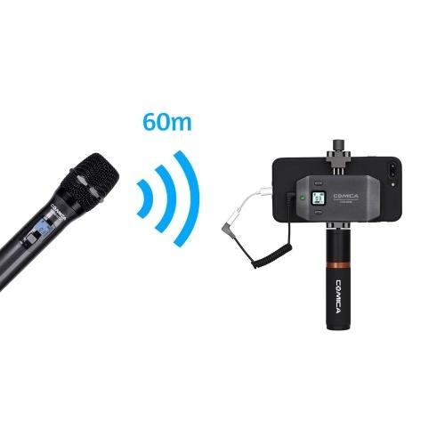COMICA CVM-WS50H Smartphone Wireless Microphone + Hand-held Transmitter D5967