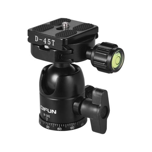 DIFUN H-101 Professional Aluminum Alloy Ball Head Panoramic Head Tripod Head 1/4 Inch Screw for Canon Nikon Sony DSLR ILDC Cameras Max. Load Capacity 6kg