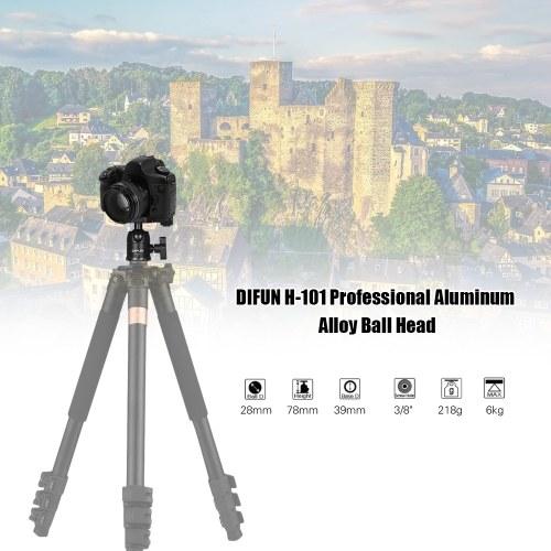 DIFUN H-101 Профессиональный алюминиевый сплав Шариковая головка Панорамный головной штатив Головка 1/4 дюйма для Canon Nikon Sony DSLR ILDC Cameras Макс. Грузоподъемность 6 кг
