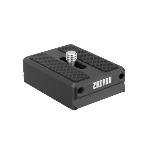Zhiyun Transmount 1.5cm Camera Backing Base de liberação rápida Camera Mount Adapter para Zhiyun Weebill Lab / Crane 2 / Crane V2 / Crane Plus / Crane-M Gimbal Estabilizador Acessório