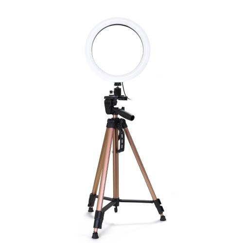 """Lampe réglable à intensité lumineuse à DEL ronde de 6 """"à intensité variable Selfie"""