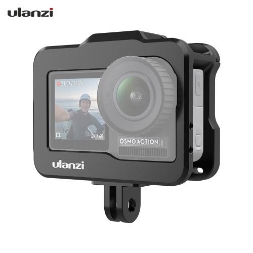 Ulanzi OA-1 Vlogging Etui Vlog de caméra en métal avec griffe froide pour DJI OSMO Action pour Microphone Lumière LED