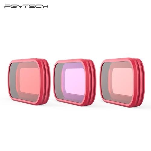 PGYTECH 3pcs Professional Diving Lens Filters Accessory Kit Set with Storage Case