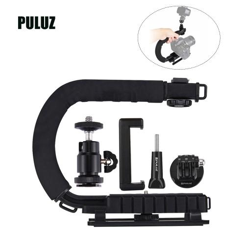 PULUZ U-Shaped Portable Handheld Camera Holder Video Handle DV Bracket C-Shaped Steadicam Stabilizer Kit