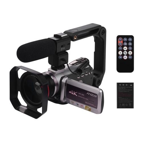 Andoer HDV-AZ50 Caméscope Portable Real 4K 30FPS WiFi Caméra Vidéo Numérique