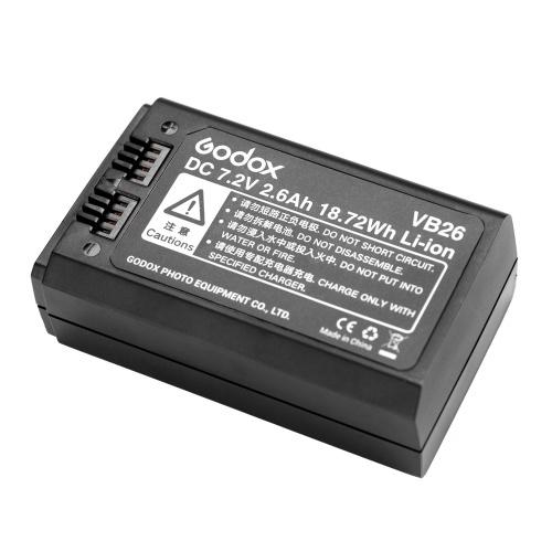 Литий-ионный аккумулятор Godox VB26 DC 7.2V 2600mAh 18.72Wh Запасной аккумулятор