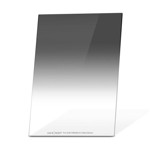 K&F CONCEPT 100 * 150 * 2.0mm Pro Soft GND8 (0.9) Filtre carré 100mm Gradué Filtre à Densité Neutre HD Verre Optique Étanche Résistant aux Rayures