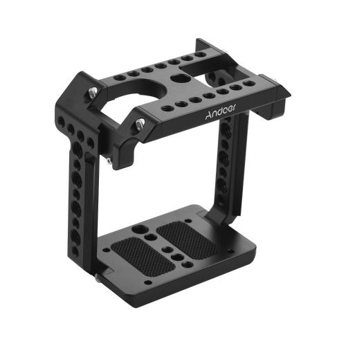 Andoer Metall Aluminium Kamera Anschlusskäfig Kompatibel mit Z CAM E2C mit Kaltschuhhalterung 1/4 Schraubzubehör