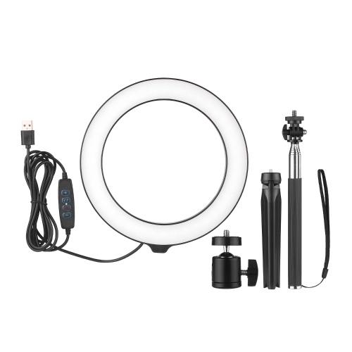 8inch Ring Light avec trépied réglable Stand Dimmable Selfie Makeup Ringlights