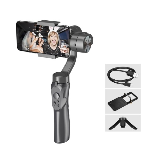 Andoer 3-Axis Gimbal Smartphone Stabilizer Smartphone Built-in Batterie au lithium