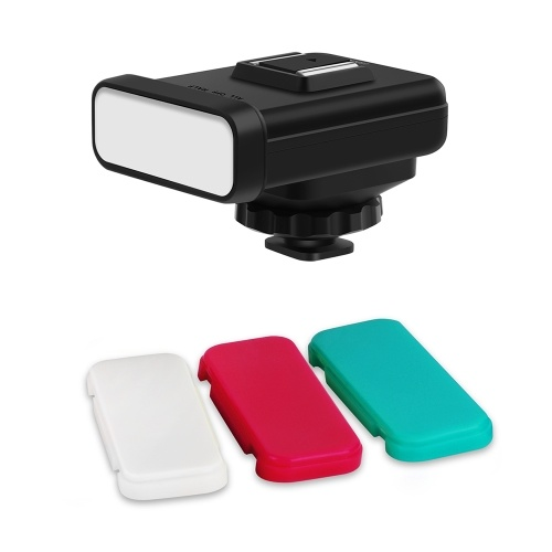 ORDRO SL-20 Compact Size On-Camera LED Video Light 20pcs LEDs with White/Red/Green Color Filters