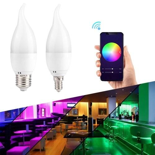 Bombilla inteligente WiFi RGB + W Bombilla LED Luz regulable