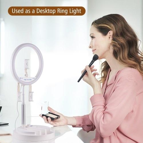 NiceFoto LR-318C 12 Inch Foldable Ring Light LED Video Light
