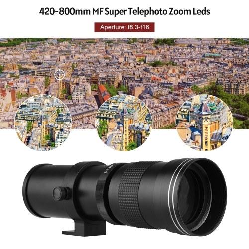 Camera MF Super Telephoto Zoom Lens F/8.3-16 420-800mm T2 Mount