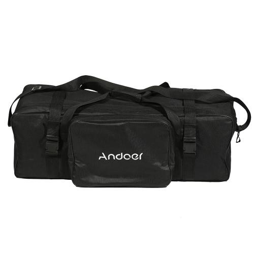 Andoer 74 * 24 * 25 cm / 29 * 9 * 10 en Kit d'éclairage Studio photographie Padded sac de transport pour léger Stand parapluie éclairage Flash Equippment