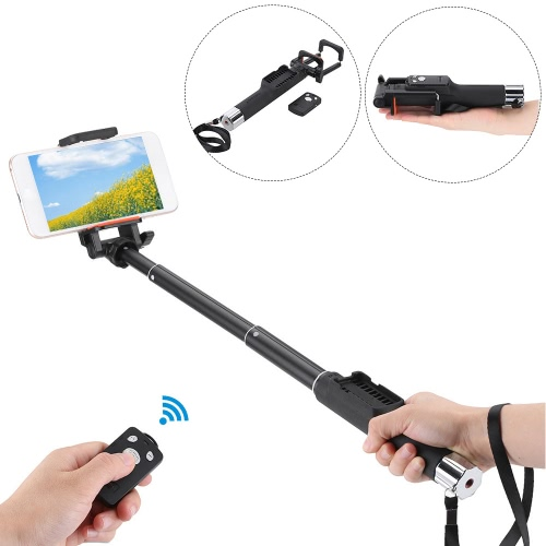 YUNTENG YT-888 Extendable Handheld Selfie Self-Timer Rotatable Pole Monopod with Removable Wireless BT Remote Shooting Control Shutter for iPhone 6 plus/6s/5s/5/4s for Samsung Smartphone with IOS 5.0 Android 4.3 System or above