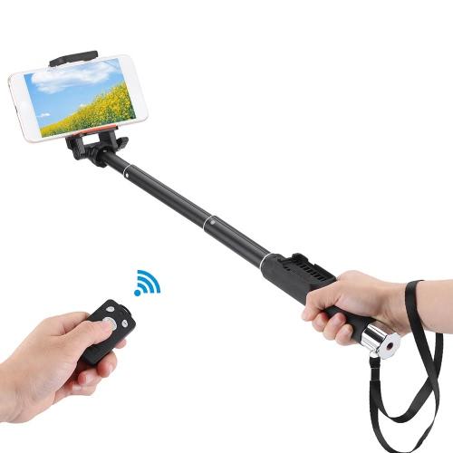 ZUNTENG YT-888 extensible poche Selfie retardateur rotatif pôle monopode avec amovible sans fil Bluetooth tir contrôle déclencheur à distance pour l'iPhone 6 plus/6 s/5 s/5/4 s pour Samsung Smartphone avec le système IOS 5.0 Android 4.3 ou supérieur
